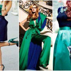 Синий цвет в одежде: примеры