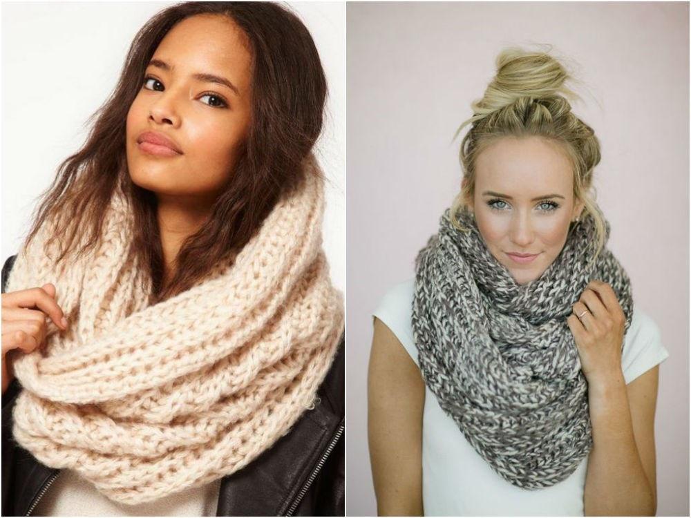модные теплые шарфы