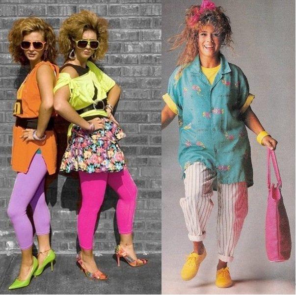 мода 90-х годов фото одежда девушки и прически
