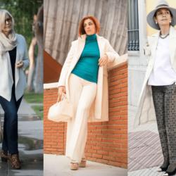 Как одеваться женщине в 50 лет стильно? Фото, примеры ансамблей, выбор цвета и принта. Типы фигуры