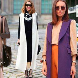 С чем носить удлиненный жилет без рукавов? Фото, с чем сочетать, модные варианты образов
