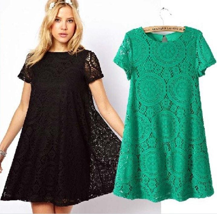 9766a61bcbee Фасоны платьев для полных женщин  фото моделей, которые стройнят