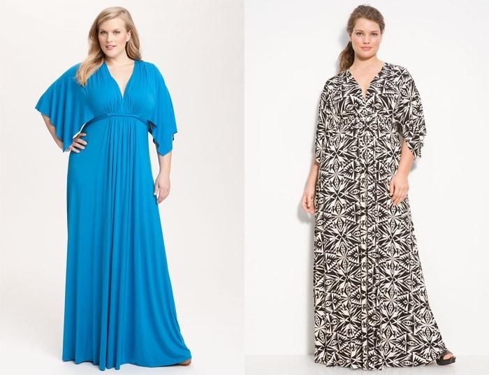 1574049593c5 Интересные фасоны длинных платьев для полных женщин представлены на фото.  Обратите внимание, что и здесь можно выгодно подчеркнуть достоинства.