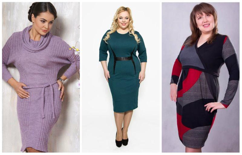 Платья 2017 для полных женщин на каждый день