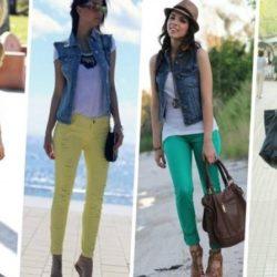 С чем носить джинсовую жилетку? Фото, интересные образы, стильные ансамбли