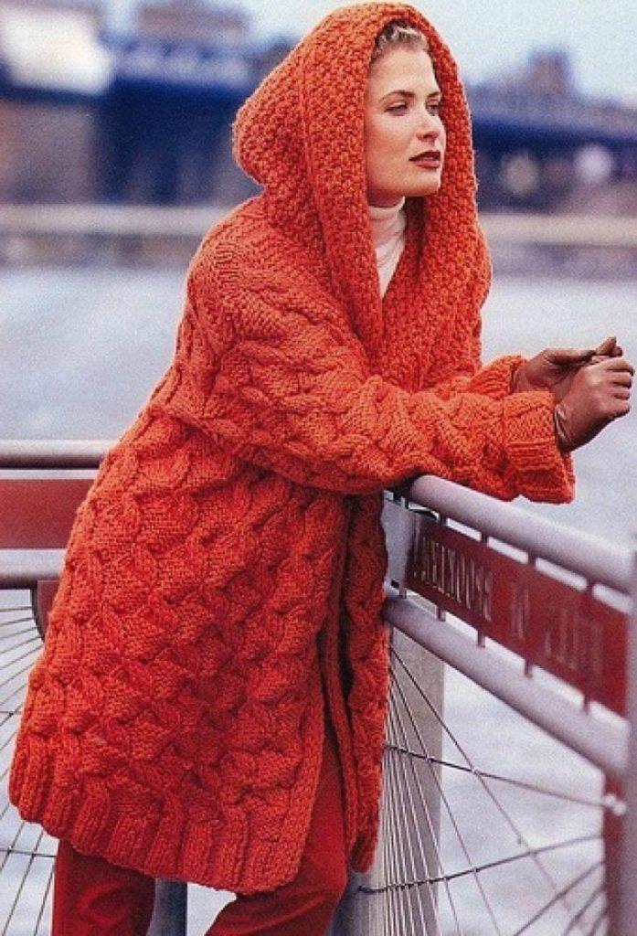 Фото схемы вязания пальто 182