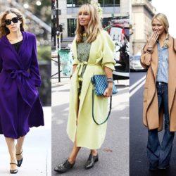 Варианты с чем носить пальто-халат: примеры сочетаний в фото