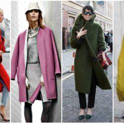 Идеи с чем носить пальто-кокон в фото