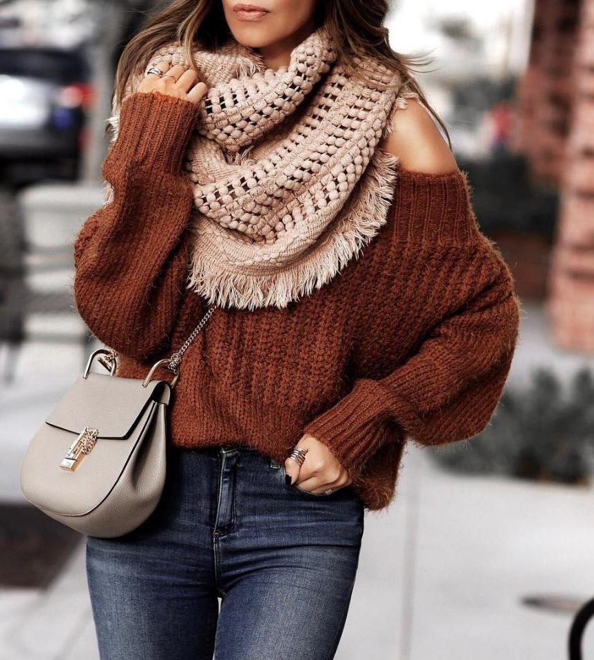 модные шарфы осень