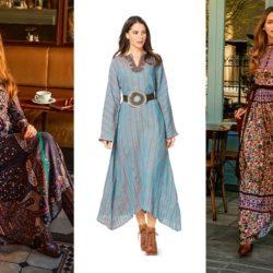 Платья в стиле бохо: фото, интересные луки, советы по выбору модели