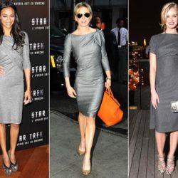С чем носить серое платье? Интересные варианты и примеры