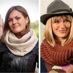 Как и с чем носить шарф-снуд?