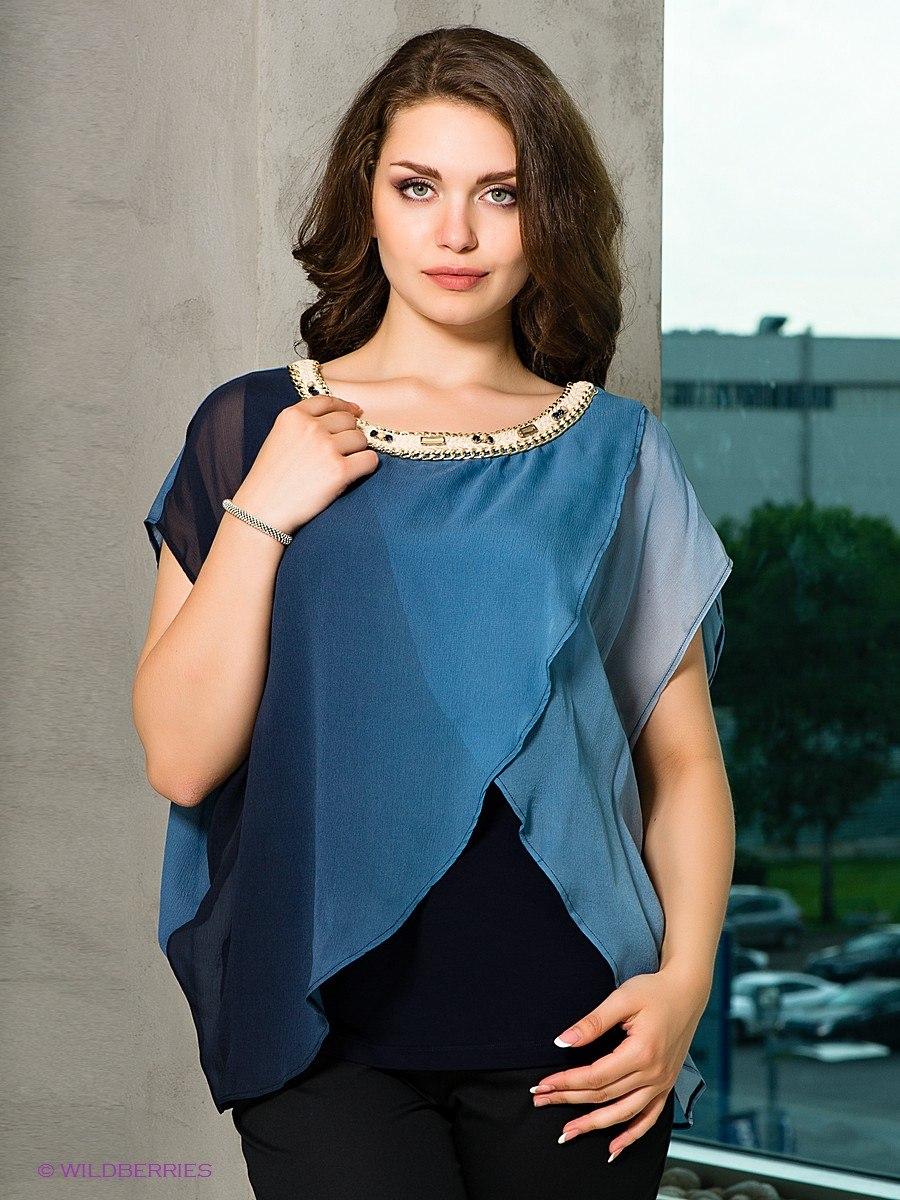 блузки для полных стройнят